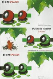 Multimedia Speaker System USB 2.0 / 3.5 jack