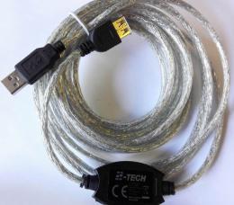 USB 2.0 repeater 5m a prodlužovací kabel A/M-A/F