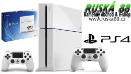 Sony PlayStation 4 500GB & Dualshock 4 White / Bílý