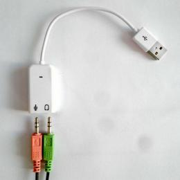 USB do 2x 3.5mm Jack - sluchátka/mikrofon Audio Adapter